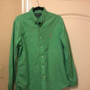 Clean mint green polo Oxford! Custom fit medium